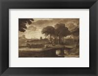 Framed Pastoral Landscape IV