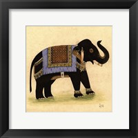 Framed Elephant from India I