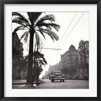 Sunset on the Diagonal, 1953 Framed Print
