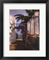 Framed Bougainvillea & Palm Trees