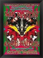 Framed Bob Marley & Stevie Wonder