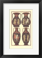Framed Greek Vases