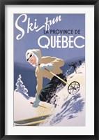 Framed Ski Fun La Province de Quebec, 1948