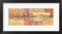 Framed WTlb ButterscotchCherish, Live Dream
