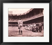Framed Babe Bows Out, c.1948