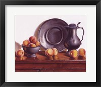 Framed Peaches & Pewter