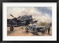 Framed Lancaster and a Bentley