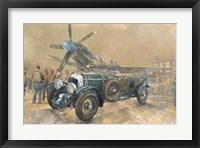 Framed Bentley and Spitfire