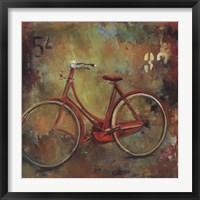 Framed My Old Red Bike
