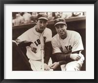 Framed Ted Williams & Joe DiMaggio, 1951