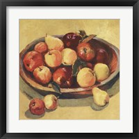 Framed Apple Bowl I