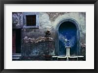 Framed Blue Alcove, Orvieto, Italy