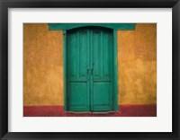 Framed Turquoise Lintel, San Juan Ostuncalco, Guatemala