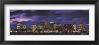 Boston at Dusk Framed Print