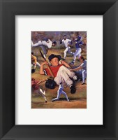 Little Leaguer Framed Print