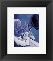 Framed Blue Jazzman I