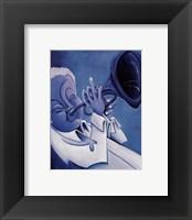 Blue Jazzman I Framed Print