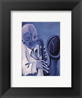 Framed Blue Jazzman II