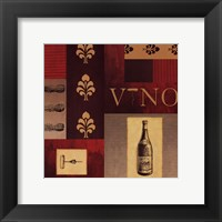 Framed Vino in Red I