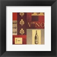 Framed Vino in Red I