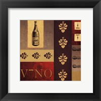 Vino in Red II Framed Print