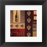 Vino in Red II Framed Print