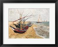 Framed Fishing Boats on the Beach, Saintes-Maries-De-La-Mer, c.1888