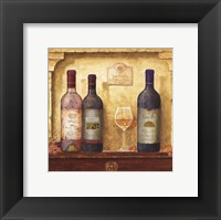 Wine Bottle Cluster III Framed Print