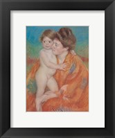 Woman with Baby Framed Print