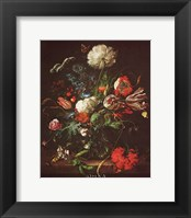 Framed Vase of Flowers
