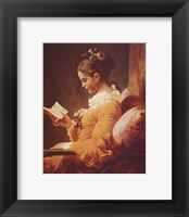 Framed Young Girl Reading