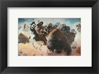 Framed Buffalo Hunt