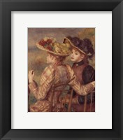 Two Seated Young Girls Framed Print
