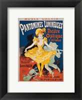 Pantomimes Lumineuses Framed Print