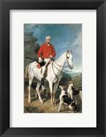 Framed Portrait of Charles Trelawny