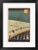 Framed Ohashi Bridge in the Rain
