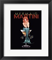 Mermaid Martini Framed Print