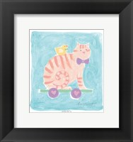 Cat Toy Framed Print