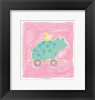 Frog Toy Framed Print