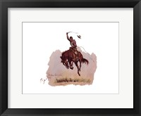 Running Bucker Framed Print