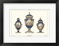 Framed Porcelain Vases