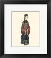 Framed Chinese Mandarin Figure XI