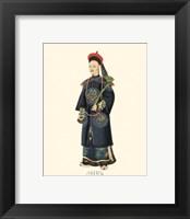 Chinese Mandarin Figure VI Framed Print
