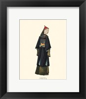 Framed Chinese Mandarin Figure VIII