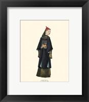 Chinese Mandarin Figure VIII Framed Print