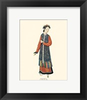 Framed Chinese Mandarin Figure IX