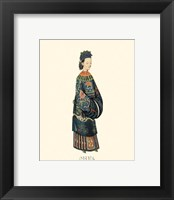 Framed Chinese Mandarin Figure II