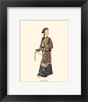 Chinese Mandarin Figure V Framed Print