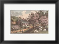 Framed American Homestead Spring
