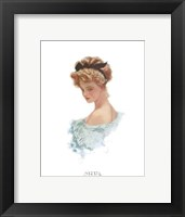Fashion Modes - Black Ribbon Framed Print